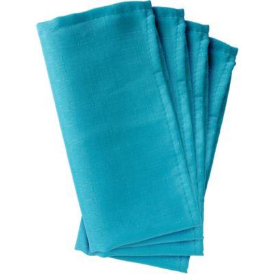 Caribbean Blue Fabric Napkins 4ct