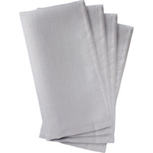 Silver Fabric Napkins 4ct