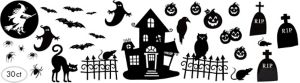 Halloween Wall Decals 30ct