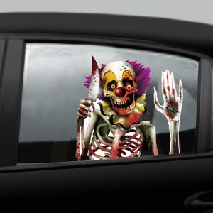 Creepy Carnival Car Window Cling Decals 2ct