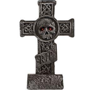 Light-Up Cross Tombstone