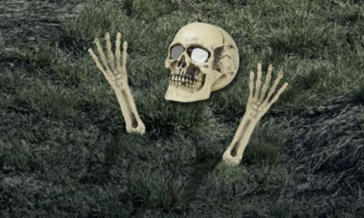 Light-Up Lawn Skull Decoration 3pc