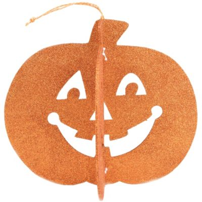 3D Glitter Pumpkin Centerpiece