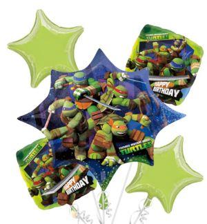 Teenage Mutant Ninja Turtles Balloon Bouquet 5pc