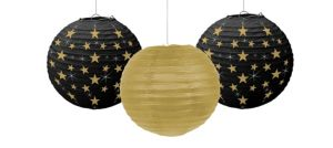 Hollywood Stars Paper Lanterns 3ct