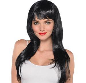 Glamorous Long Black Wig