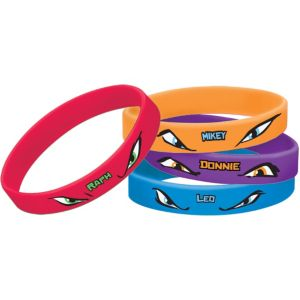 Teenage Mutant Ninja Turtles Wristbands 4ct