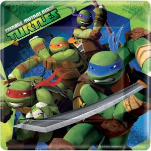 Teenage Mutant Ninja Turtles Lunch Plates 8ct
