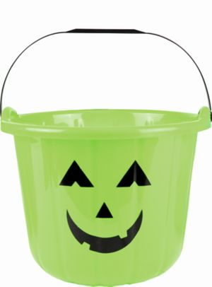 Green Jack-o'-Lantern Treat Bucket