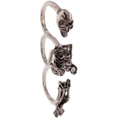 Three Finger Skeleton Ring