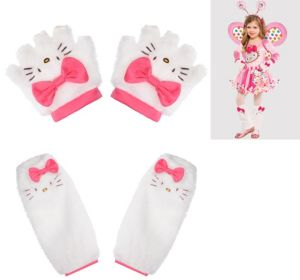 Child Hello Kitty Gloves and Leg Warmers Set