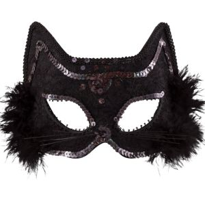 Fancy Black Cat Mask