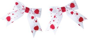 Bloody White Hair Bows 2ct