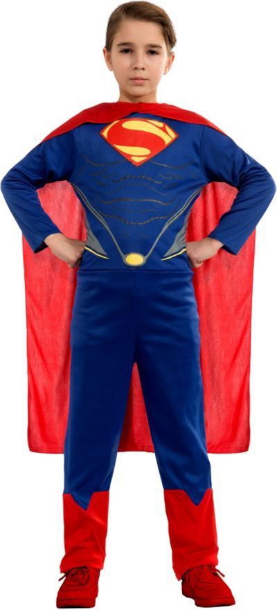 Child Man of Steel Superman Action Suit Costume