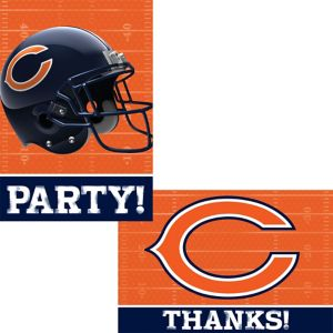 Chicago Bears Invitations & Thank You Notes For 8