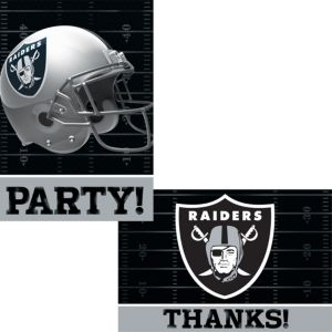 Oakland Raiders Invitations & Thank You Notes For 8