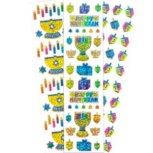 Hanukkah Stickers 4 Sheets