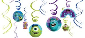 Monsters University Swirl Decorations 12ct