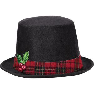 Snowman Black Top Hat
