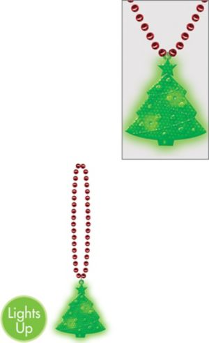 Light-Up Christmas Tree Pendant Necklace