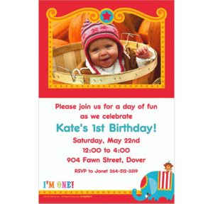 Custom Fisher Price 1st Birthday Photo Invitations