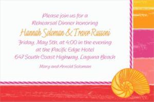 Custom Warm Sea Invitations