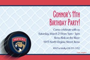 Custom Florida Panthers Invitations