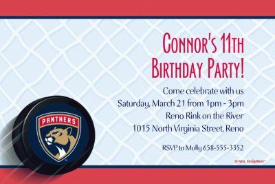Florida Panthers Custom Invitation