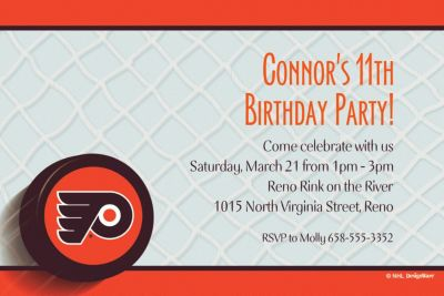 Philadelphia Flyers Custom Invitation
