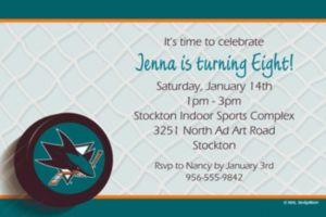 Custom San Jose Sharks Invitations