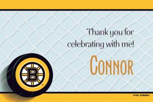 Custom Boston Bruins Thank You Notes