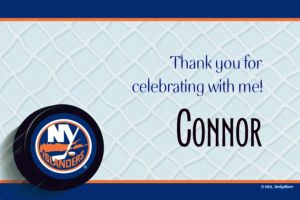 Custom New York Islanders Thank You Notes