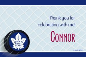 Custom Toronto Maple Leafs Thank You Notes