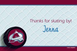Custom Colorado Avalanche Thank You Notes