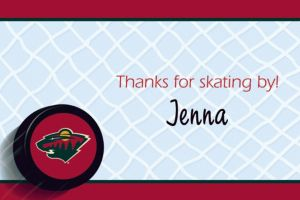 Custom Minnesota Wild Thank You Notes