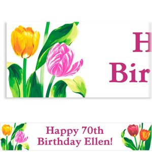 Custom Spring Tulips Banner 6ft