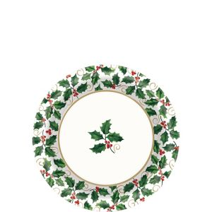 Seasonal Holly Dessert Plates 40ct