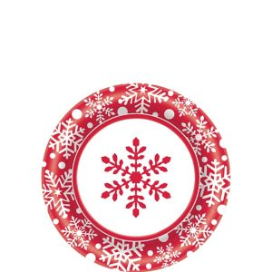 Winter Holiday Dessert Plates 40ct