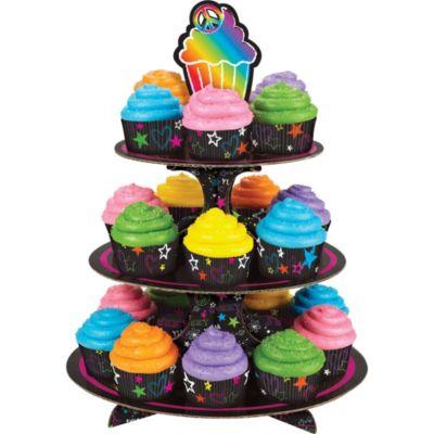 Neon Cupcake Stand