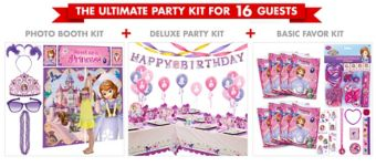 Sofia the First Ultimate Party Kit for 16 Guests