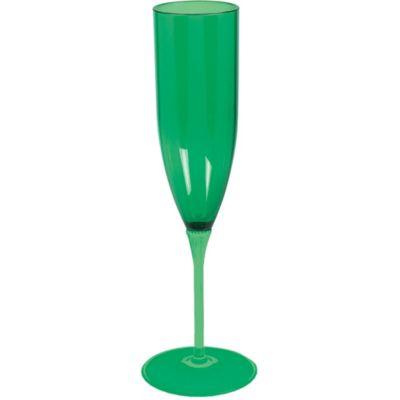 Green Plastic Champagne Flute