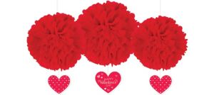 Valentine's Day Fluffy Decorations 3ct