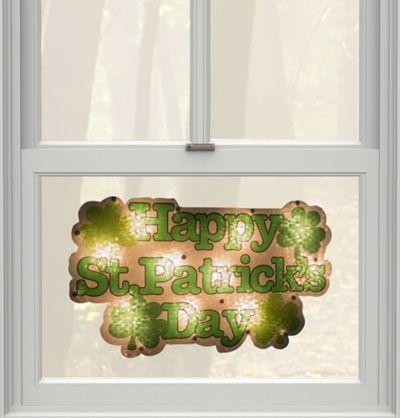 Light-Up St. Patrick's Day Window Decoration