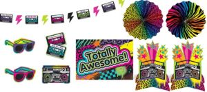 Totally 80s Room Decorating Kit 10pc