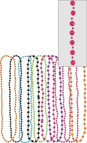 Multicolor 80s Bead Necklaces 10ct
