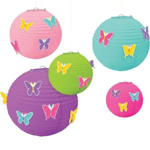 Butterfly Paper Lanterns 5ct