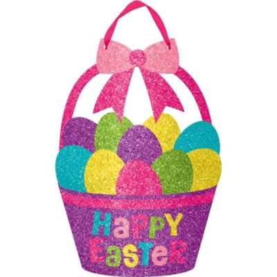 Glitter Easter Basket Sign