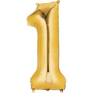 Number 1 Balloon - Gold