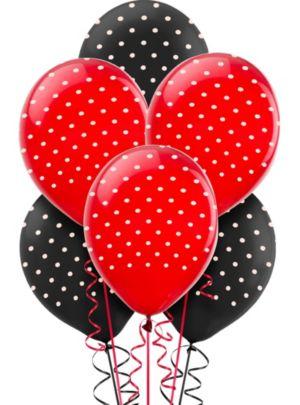 Fancy Ladybug Balloons 6ct