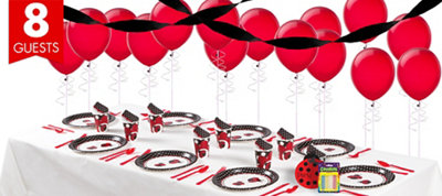 Ladybug Fancy 1st Birthday Party Supplies Basic Party Kit